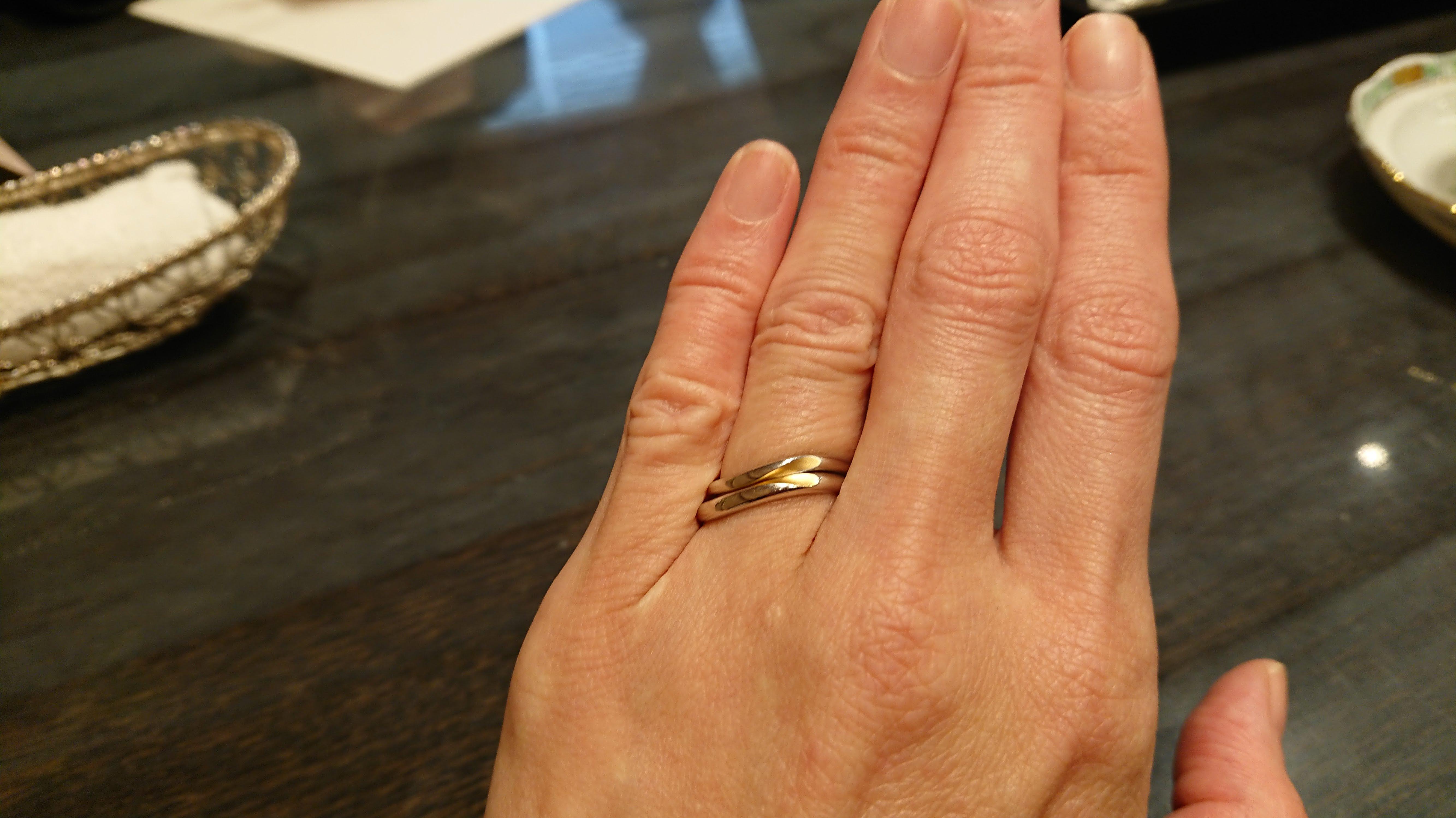 ケイ・ウノで結婚指輪の試着