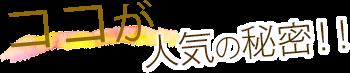 ココが人気の秘密!!